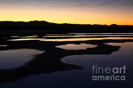 James Brunker - Abstract Pools and Silhouettes Salar de Uyuni