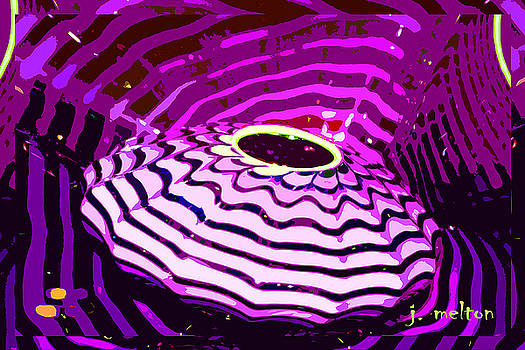 Abstract Purple Glass by Jack Melton