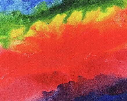 Abstract Rainbow River Watercolor by Irina Sztukowski