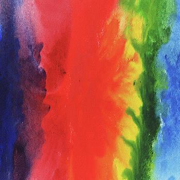Abstract Rainbow Watercolor Splash by Irina Sztukowski