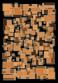 Abstract Rectangles Nightfall Color Scheme by Frank Tschakert