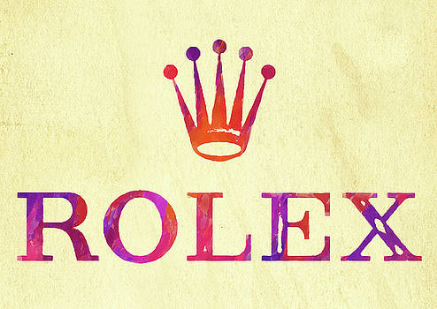 Ricky Barnard - Abstract Rolex Logo Watercolor II