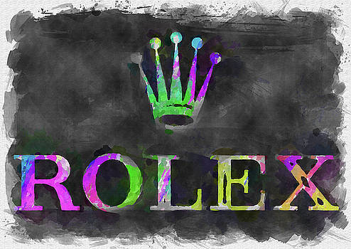 Ricky Barnard - Abstract Rolex Logo Watercolor