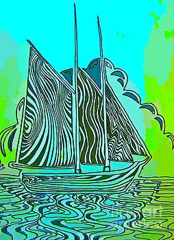 John Malone - Abstract Sail Boat