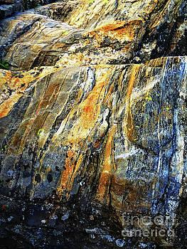 Abstract Scenery. Orange Rocks. by Ausra Huntington nee Paulauskaite