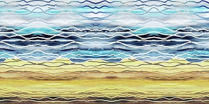 Irina Sztukowski - Abstract Seascape Beach House Interior Decor I