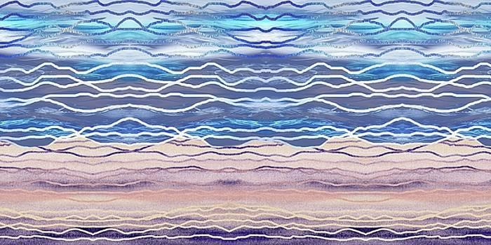 Irina Sztukowski - Abstract Seascape Beach House Interior Decor II