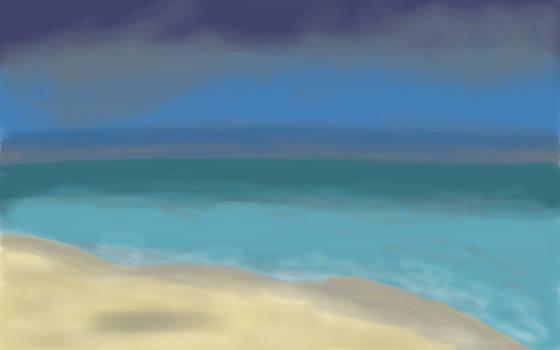 Eliza Donovan - Abstract Seascape - Sea after the Rain