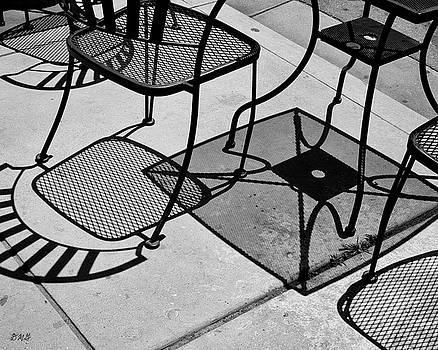 Abstract Shadows II BW by David Gordon