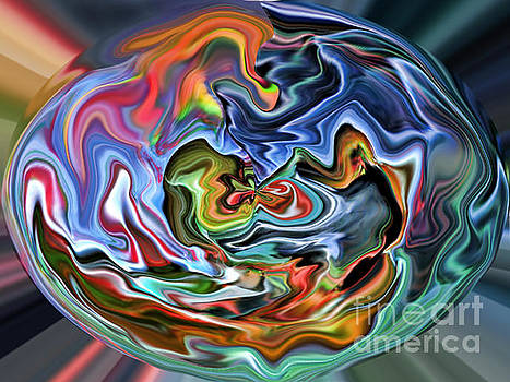 Abstract Sphere III by Jim Fitzpatrick