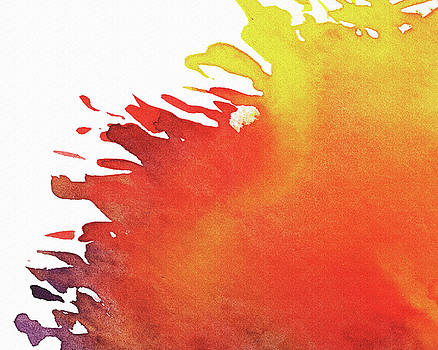 Abstract Splash Of Color Watercolor  by Irina Sztukowski