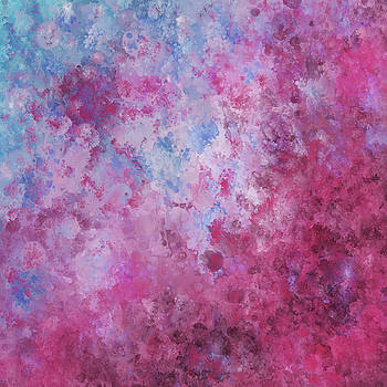 Michelle Wrighton - Abstract Square Pink Fizz