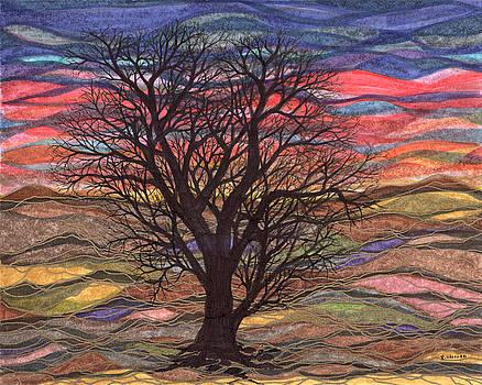 Regina Valluzzi - Abstract Sunset after Schiele