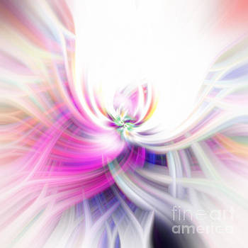 Abstract Swirls with Pink by Phill Petrovic