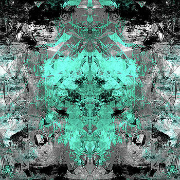 Abstract Teal Grey by Filippo B