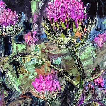 Ginette Callaway - Abstract Thistles Modern Botanical Art