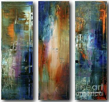 Abstract Tryptich Original Painting Colorful Art by Megan Duncanson by Megan Duncanson