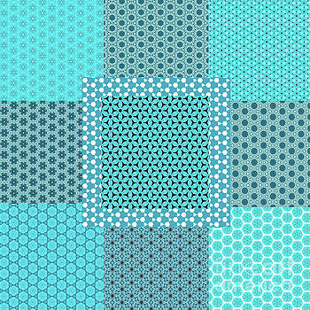 Abstract Turquoise Pattern Mockup C1 by Alisha at AlishaDawnCreations