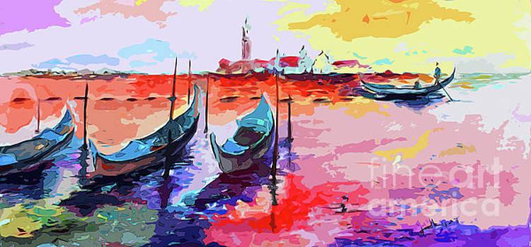 Ginette Callaway - Abstract Venice Gondolas