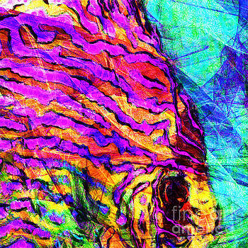 Abstract Vibrant Tropical Fish Discus 20170910 square by Wingsdomain Art and Photography