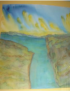Abstract water sky and landscape by Cynthia Silverman