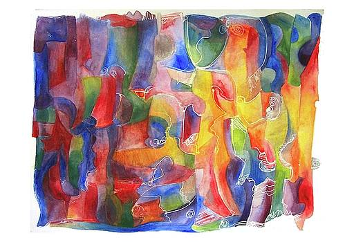 Abstract watercolor by Lydia L Kramer