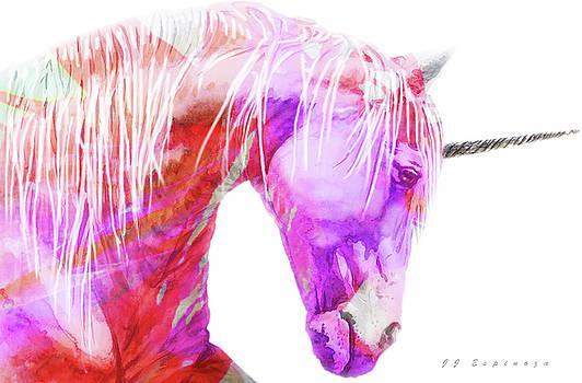 Abstract  Unicorn  I I by J- J- Espinoza