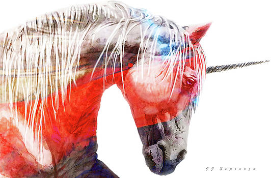 Abstract Unicorn V by J- J- Espinoza