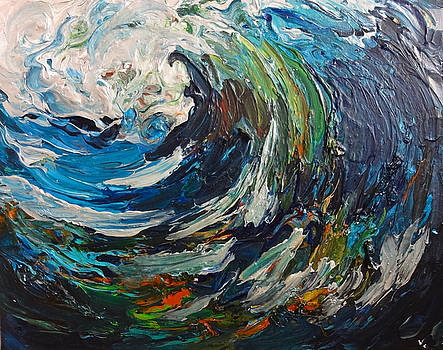 Abstract Wild Wave  by Michelle Pier