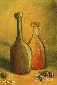 Abstract Wine Bottles by Dave Casey