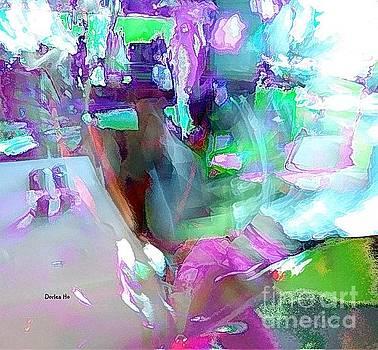 Abstract Wine Glass by Dorlea Ho