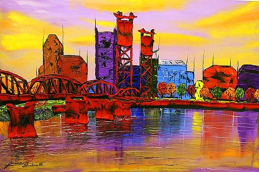 Abstract World Of Portland #14 by Portland Art Creations
