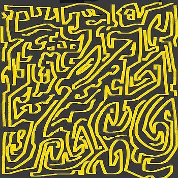 Abstract yellow grey by Eliso Ignacio Silva