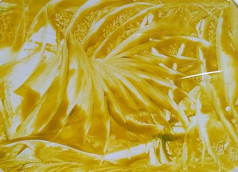 Abstract yellow  by Lorraine Bradford