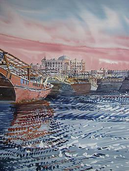 Abu Dhabi Dhows by Martin Giesen