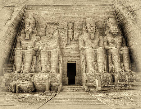 Abu Simbel Antiqued by Nigel Fletcher-Jones