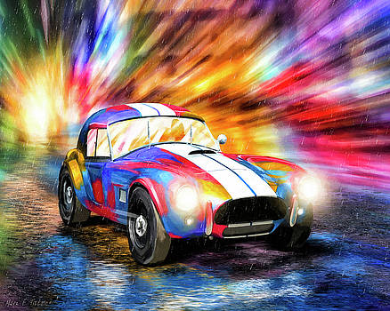 Shelby Cobra Roadster In The Rain by Mark Tisdale