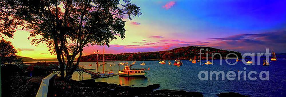 Acadia Bar Harbor sunset cruises.tif by Tom Jelen