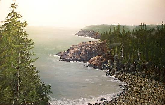 Acadia Maine Morning Mist by Ken Ahlering