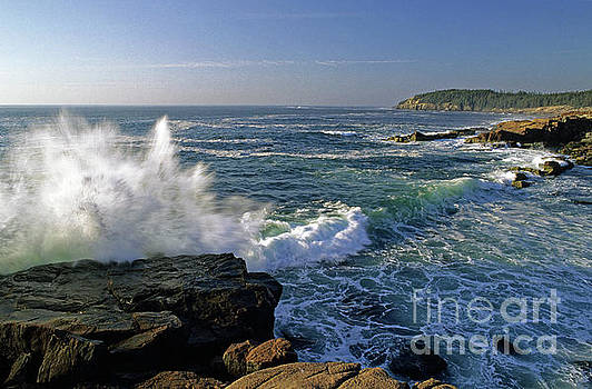 Crashing wave, Acadia National Park, Maine, USA by Kevin Shields