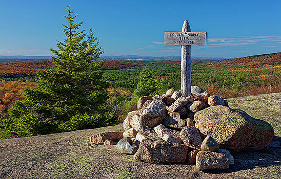 Summit marker, Acadia National Park, Maine, USA by Kevin Shields