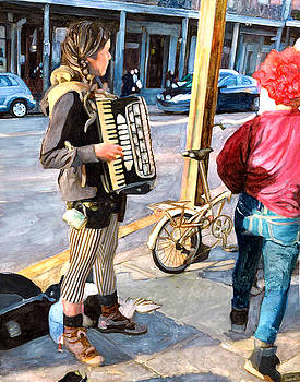 Accordian Busker by John Boles
