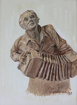 Accordion Player by Phil Chadwick