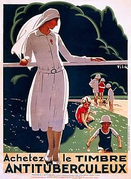 Achetez le timbre antituberculeux, public health poster, 1917 by Vintage Printery