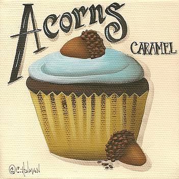 Acorn Caramel Cupcake by Catherine Holman