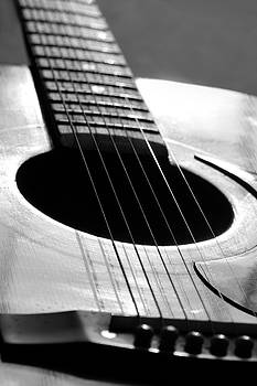 Angela Murdock - Acoustic Guitar in Black and White