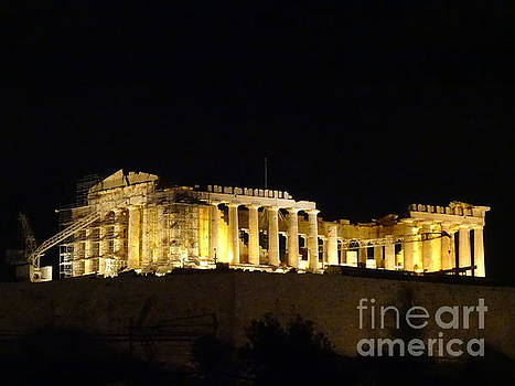 Acropolis at Midnight by Mitzisan Art LLC