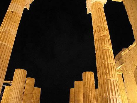 Acropolis at night 2 by Jelena Ignjatovic