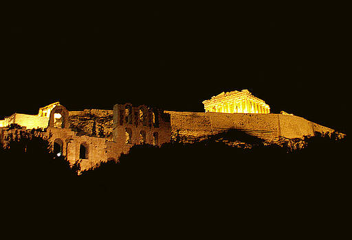 Acropolis At Night by Pamela Kelly Phillips
