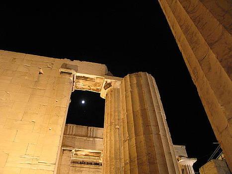Acropolis Captured Moon 1 by Jelena Ignjatovic